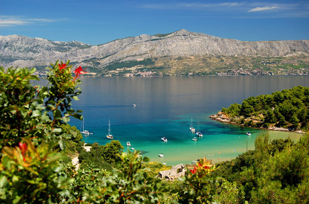 Lovrecina Beach On Brac Island Croatia