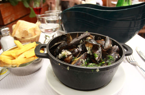 Mussels On The Table